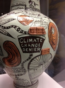 One of the oldest media forms referencing climate change: Grayson Perry pot, British Museum, Photo: Joe Smith